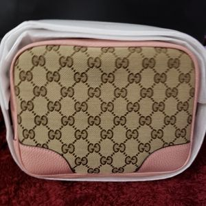 GUCCI GG Guccissima Bree Crossbody, Pink, New